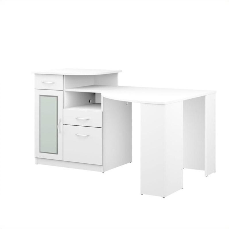 Bush Vantage Corner Home Office Computer Desk in Pure