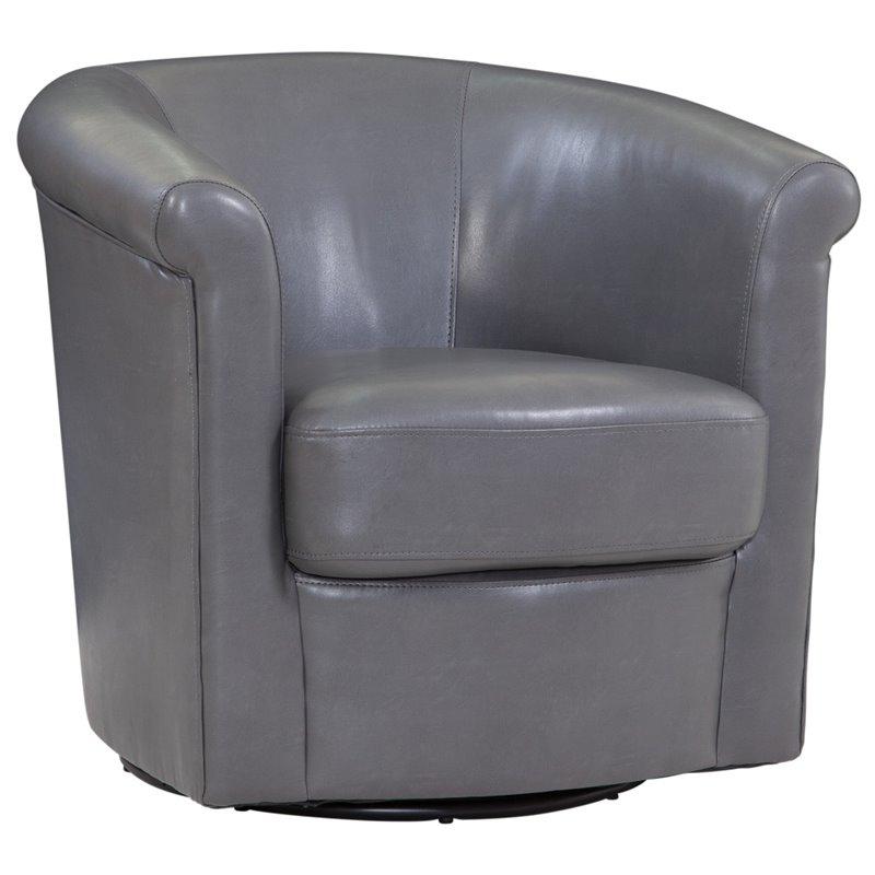 swivel tub chairs hammock chair stand ikea addison charcoal gray 1012 05 l03