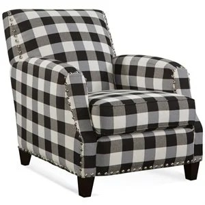 black and white accent chairs with arms blue round chair cymax stores holden plaid