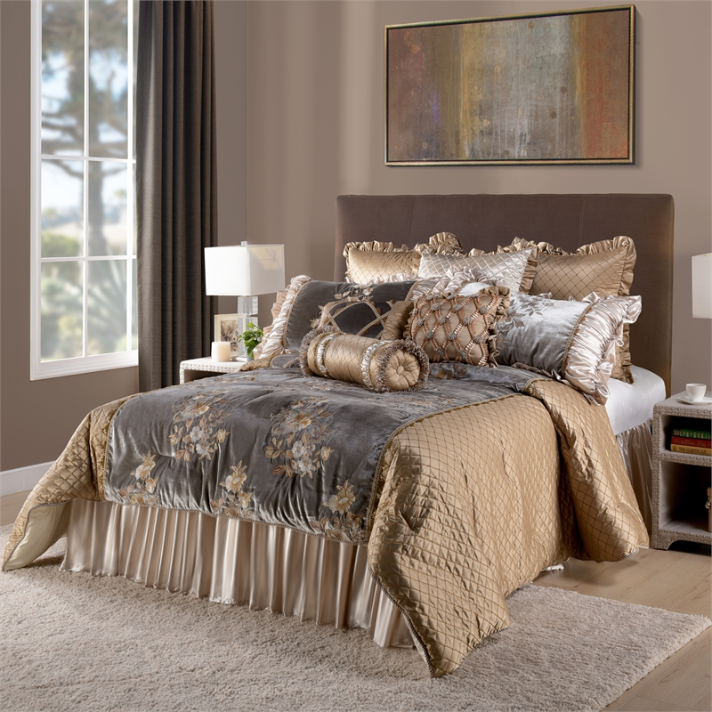 legacy 10 piece king comforter set taupe
