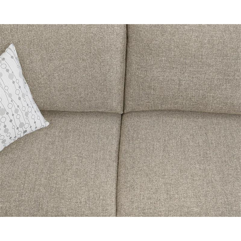 founders beige linen mid century right hand facing sectional sofa chaise