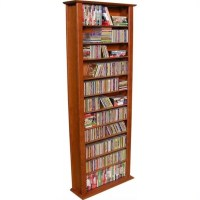 "Venture Horizon 76"" Tall CD DVD Wall Media Storage Rack"