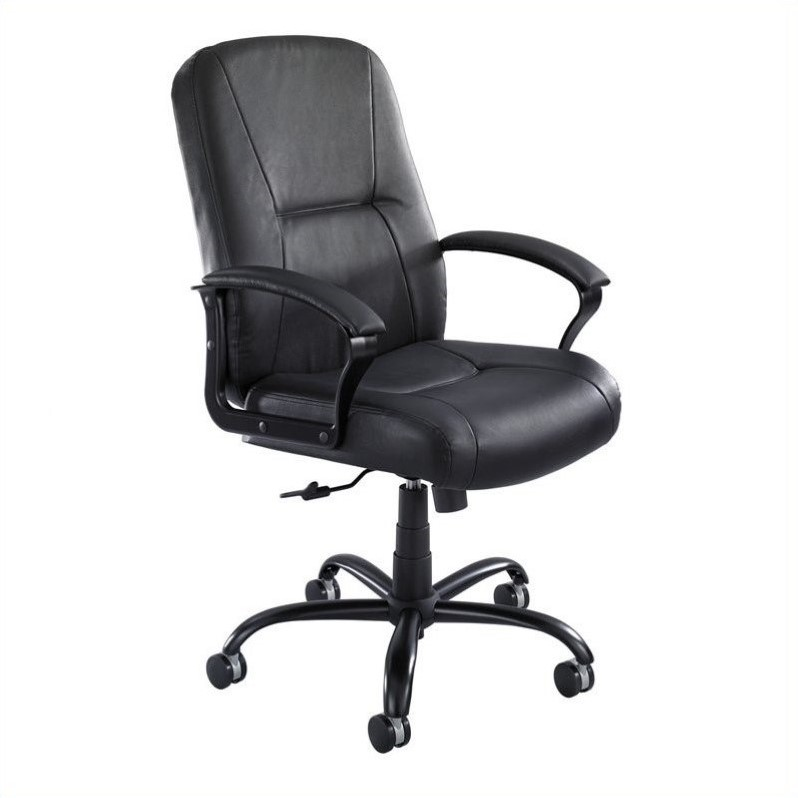 black leather office chair high back outdoor hanging egg canada big and tall in 3500bl