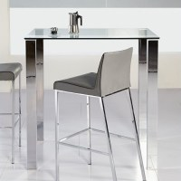 Eurostyle Beth Glass Bar Table in Clear - 38704A-38704G-KIT