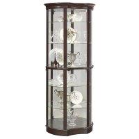 Pulaski Concave Front Mirrored Curio Cabinet in Sable ...