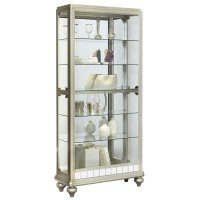 Pulaski Mirrored Metallic Side Entry Curio Cabinet in