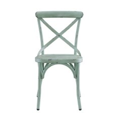 Distressed Dining Chairs Fishing Chair Parts Pulaski Metal In Antique Blue Ds D067