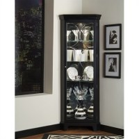 Oxford Black Corner Curio Cabinet - 21220
