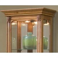 Pulaski Curios Display Cabinet in Estate Oak - 21214