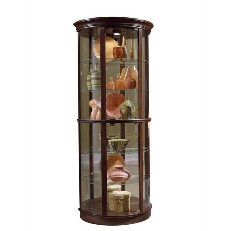 Pulaski Preference 32 Inch Wide Half Round Curio Cabinet Cherry Cabinets  eBay