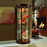 "Pulaski Preference 32"" Wide Half Round Curio Cabinet | eBay"