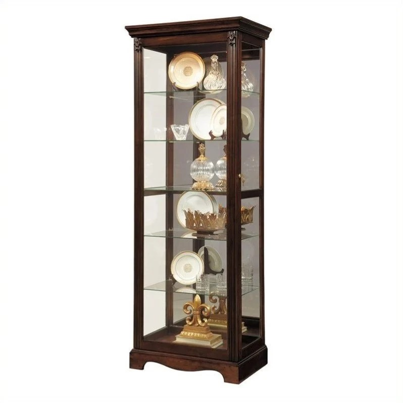 kitchen cabinet brands reviews open designs in small apartments pulaski curio classic display warm cherry - 21457