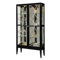 Curio Display Cabinet in Black Granite - 21465
