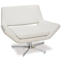 Leather Swivel Chair in White - YLD5141-W32