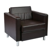 Faux Leather Accent Chair in Espresso - PAC51-V34