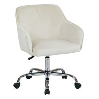 Velvet Fabric Office Chair in Oyster