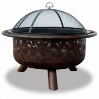 Wood Burning Bronze Outdoor Fire Pit - WAD792SP