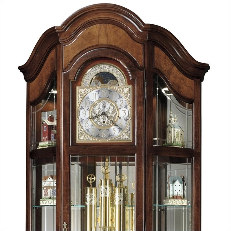 dining room sets 6 chairs fishing fighting chair howard miller majestic ii curio grandfather clock - 610939
