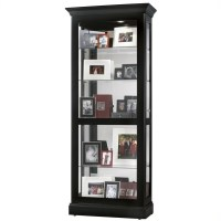 Howard Miller Berends Curio Cabinet in Black Satin - 680477