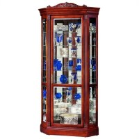 Howard Miller Embassy II Corner Display Curio Cabinet - 680290