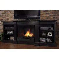 """Real Flame Fresno 72"""" Indoor Gel TV Stand Fireplace in ..."""