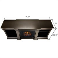Real Flame Fresno TV Stand Electric Fireplace in Dark ...
