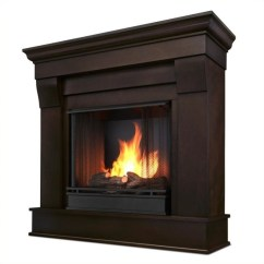 Conversation Sofas Reviews Patio Sectional Sofa Real Flame Chateau Ventless Gel Fireplace In Dark Walnut ...