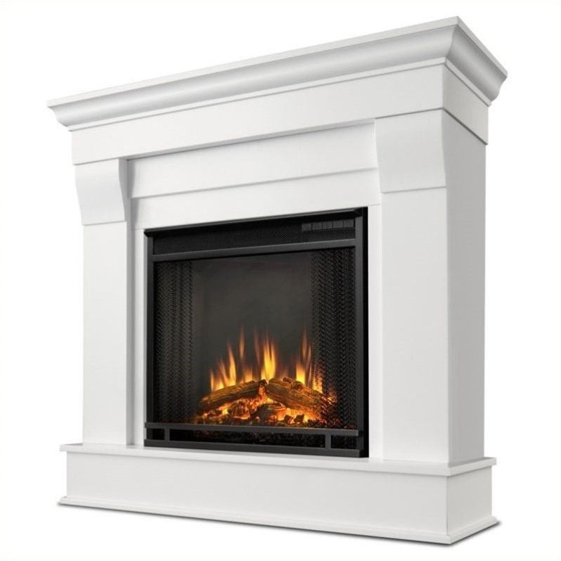 Real Flame Chateau Electric Fireplace in White Finish  5910EW