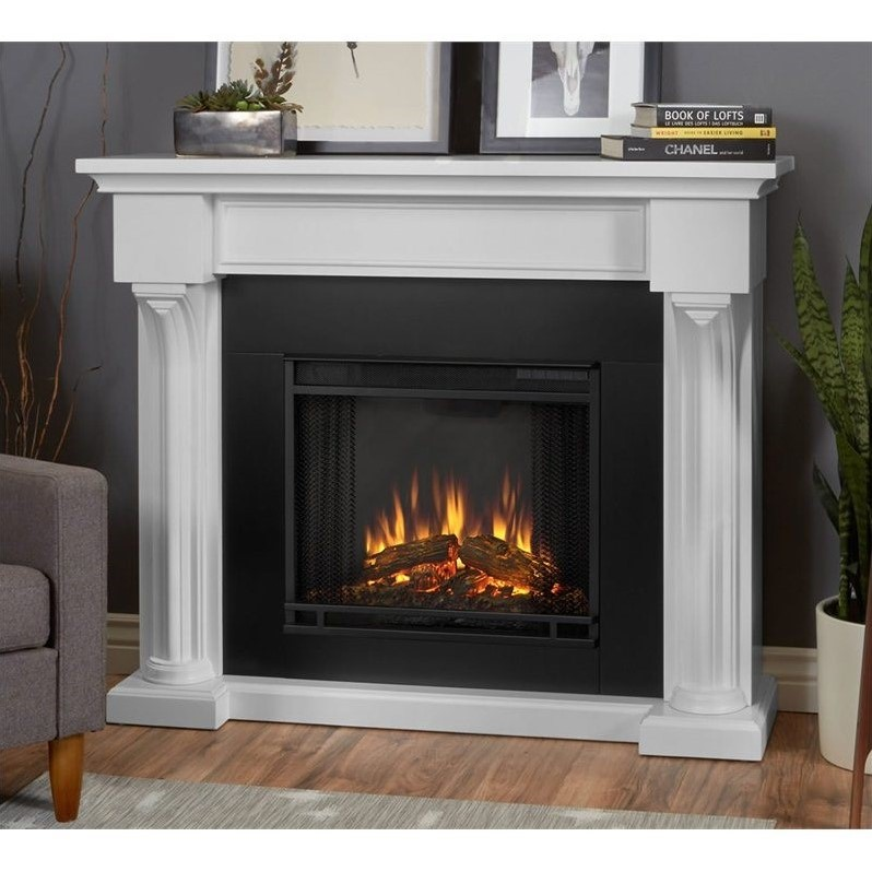 Real Flame Verona Indoor Electric Fireplace in White  5420EW