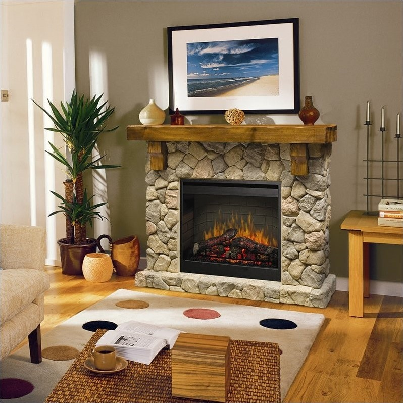 Dimplex Electraflame Fieldstone Natural Stone Free Standing Electric Fireplace  eBay