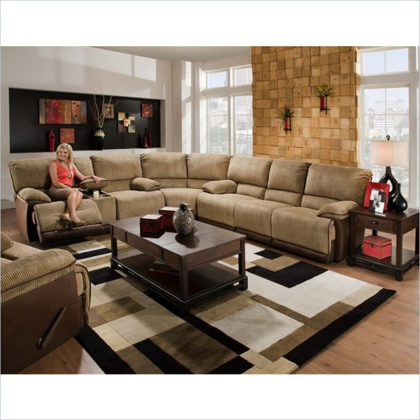 Catnapper Compass 3 Piece Sectional Sofa In Espresso