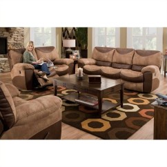 1 Piece Patio Chair Cushions Gateleg Table With Chairs Inside Catnapper Portman Reclining 3 Sofa Set In Saddle And Chocolate - 196-portman-3pkg