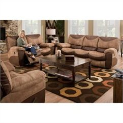 Poundex Bobkona Arcadia Sofa And Loveseat Set Microfiber Stain Protector Sets, Living Room | Cymax.com