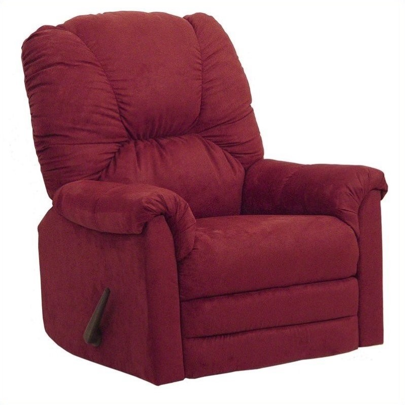 oversized patio chair cushions portable chairs kmart catnapper winner rocker recliner in sangria - 42342211234
