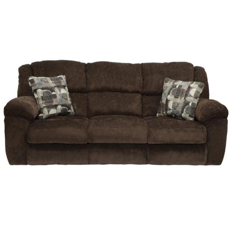 catnapper sofa leather sleeper transformer fabric reclining in chocolate ...