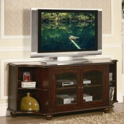 Accent Mirrors Living Room Ideas Brown Sofa Trent Home Piedmont Rta Tv Stand In Warm Cherry ...
