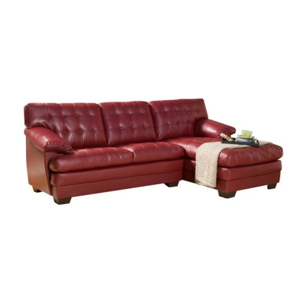 Trent Home Brooks Oversized Tufted 2 Piece Leather