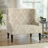 Audrey Wide Accent Chair in Cream - 418075