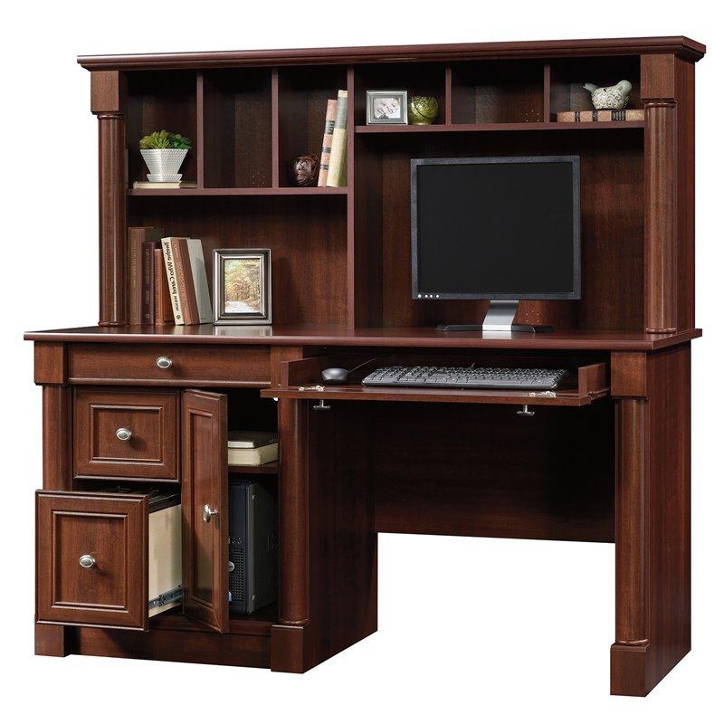 Sauder Palladia Computer Desk with Hutch in Cherry  eBay