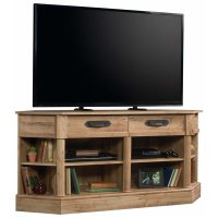 Sauder Viabella Corner TV Stand in Antigua Chestnut - 420758