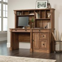 Sauder Palladia Computer Desk with Hutch in Vintage Oak ...