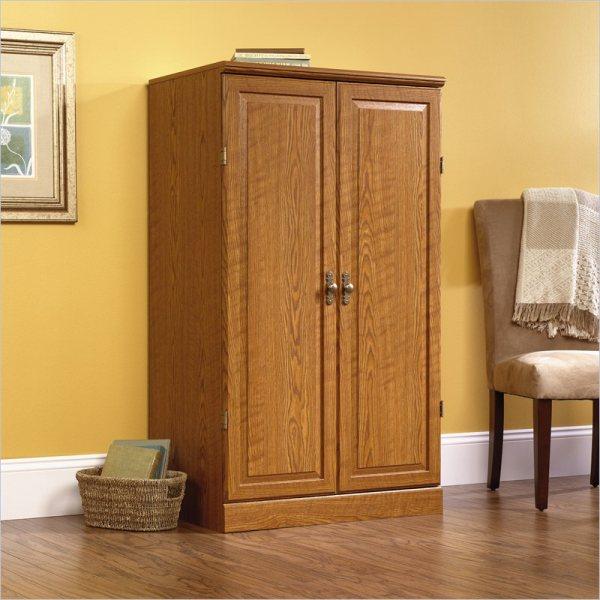 Sauder Computer Armoire Furniture Oak