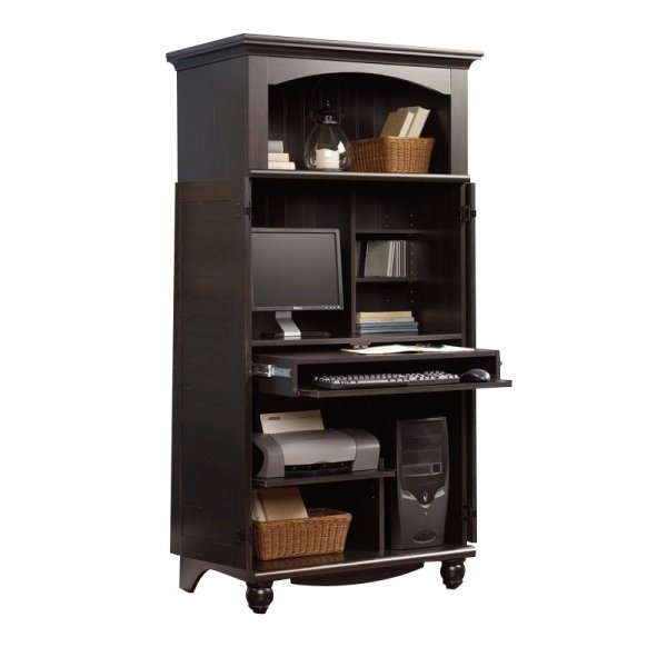 Sauder Harbor View Computer Armoire Armoires In Antiqued