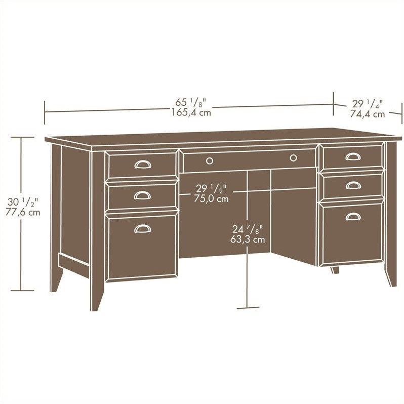 Executive Desk in Jamocha Wood  408920