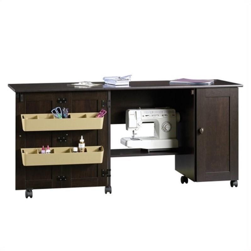 Sewing Machine Cabinet Table Craft Desk Storage Furniture