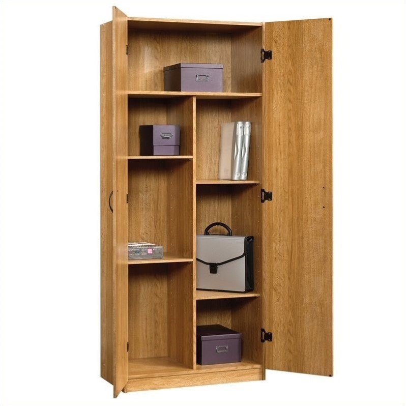 Sauder Beginnings Storage Cabinet in Highland Oak  413326