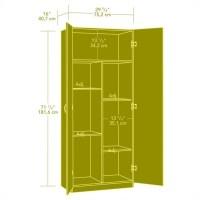 Sauder Beginnings Storage Cabinet in Soft White - 413678