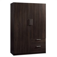 Sauder Beginnings Storage Cabinet Cinnamon Cherry Wardrobe ...