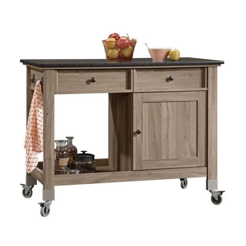 Mobile Kitchen Cart in Salt Oak  417089
