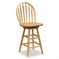 "Winsome Wood 24"" Windsor Swivel Seat Natural Bar stool 